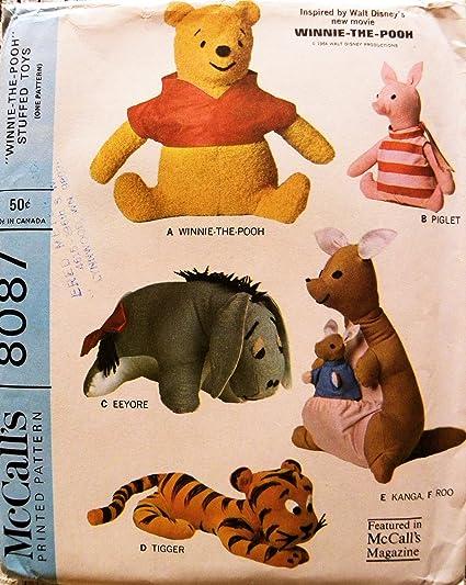 Amazon.com: McCalls 8087 Winnie the Pooh Eeyore Piglet, Tigger ...