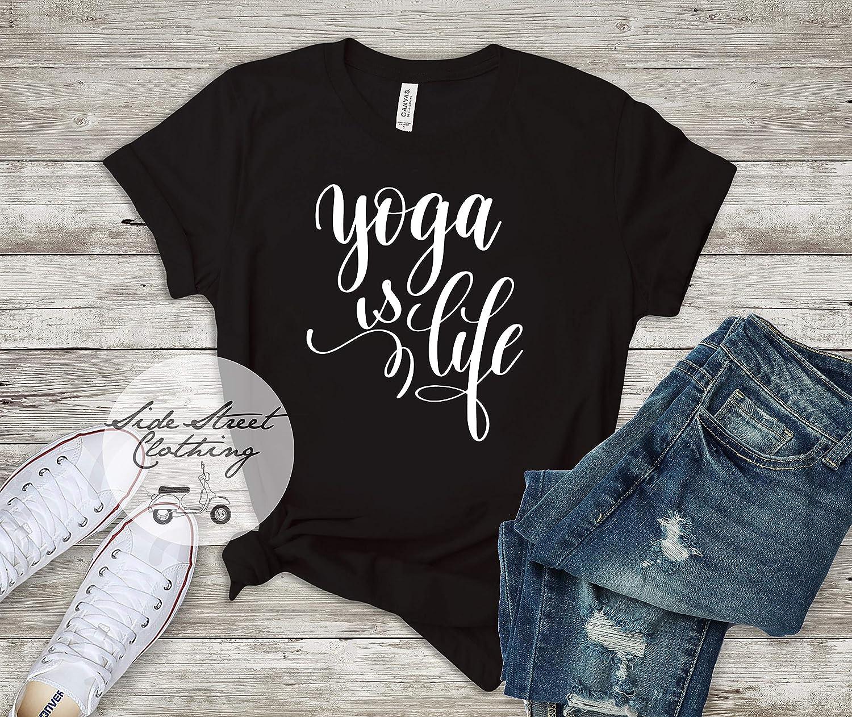 Amazon.com: Yoga is Life T Shirt - Womens, youth, Birthday ...