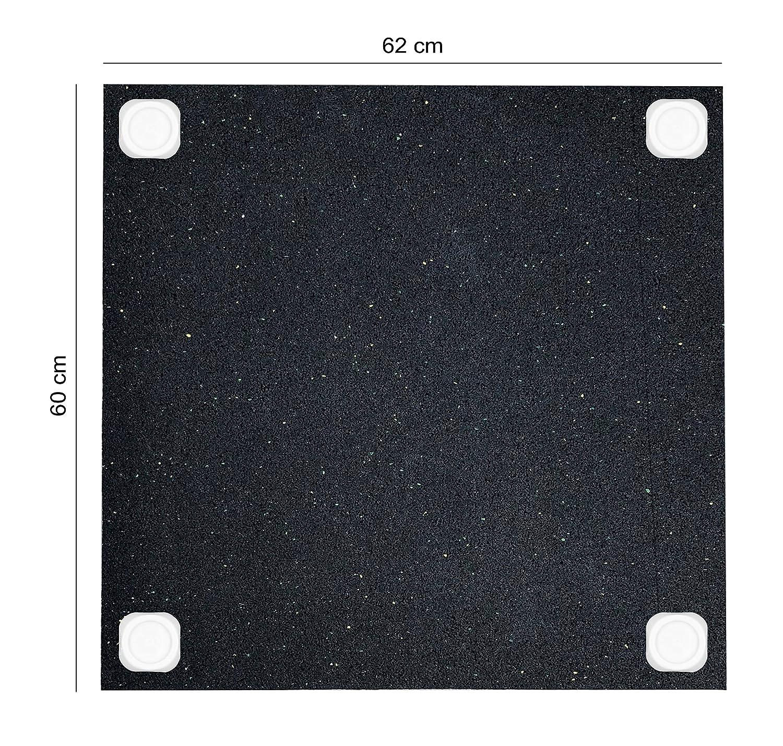 intervisio Estera antivibración para lavadoras, Antideslizante para Lavadora o Secadora, Universal de 62x60 cm, Juego de 4 amortiguadores de ...