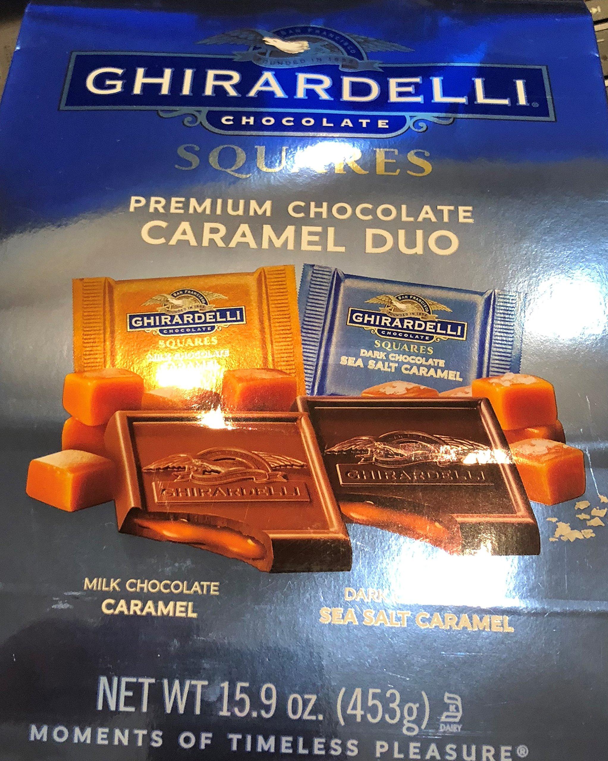 Ghirardelli Premium Chocolate Caramel Duo XL Bags 15.9 oz!