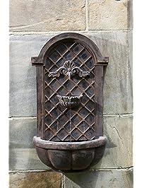 Gentil Cambridge Wall Fountain In English Iron