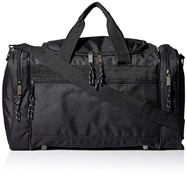 Amazon.com | DALIX Blank Duffle Bag Duffel Bag in Black Gym Bag ...