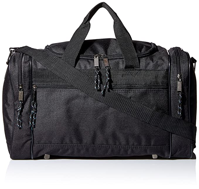 DALIX Blank Duffle Bag Duffel Bag in Black Gym Bag 7821cbd2c9ae4