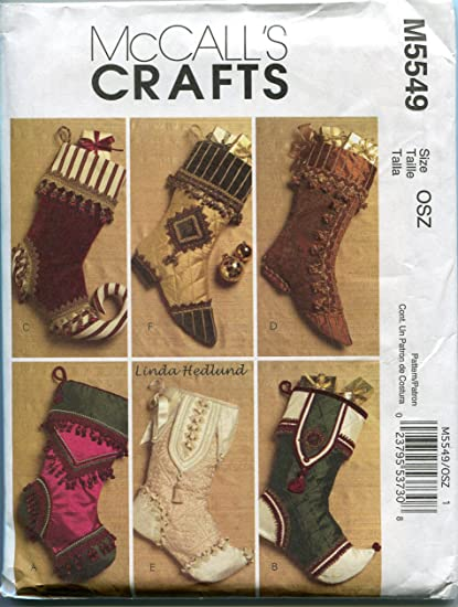 Victorian Christmas Stockings.Amazon Com Mccalls Crafts M5549 Victorian Christmas