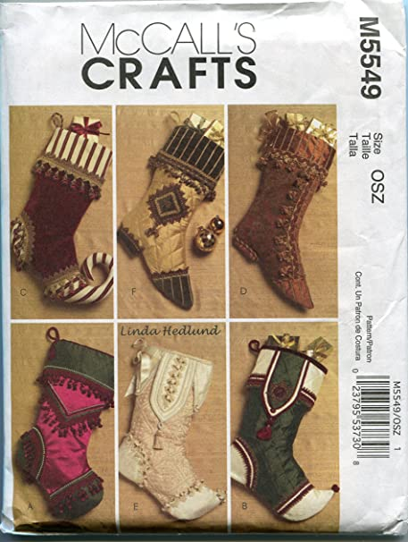 McCalls Crafts M5549 Victorian Christmas Stockings by Linda Hedlund ...