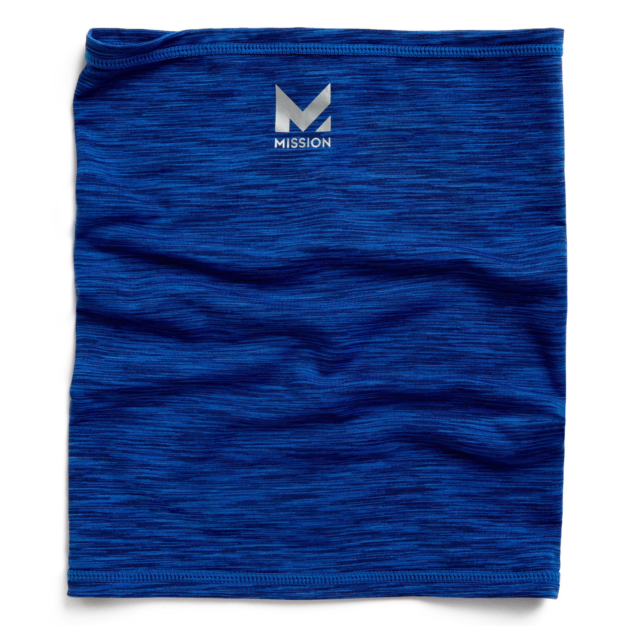 Mission HydroActive Fitness Multi-Cool Neck Gaiter and Headband, Royal Blue Space Dye, One Size