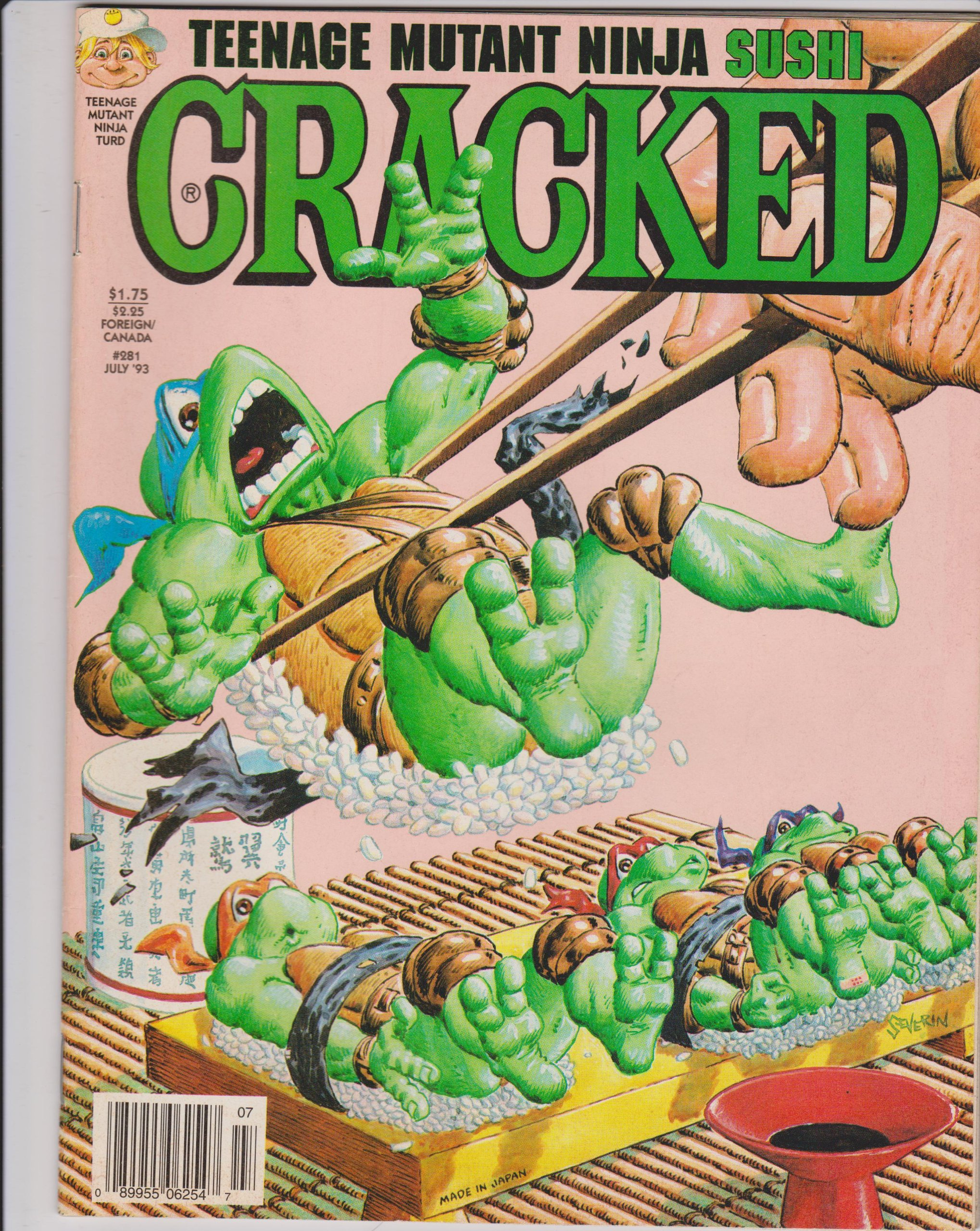 Cracked Teenage Mutant Ninja Sushi #281 July 93: Amazon.com ...