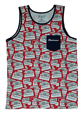 ff6106b6ab765 Fashion Budweiser All Over Tank Top at Amazon Men s Clothing store