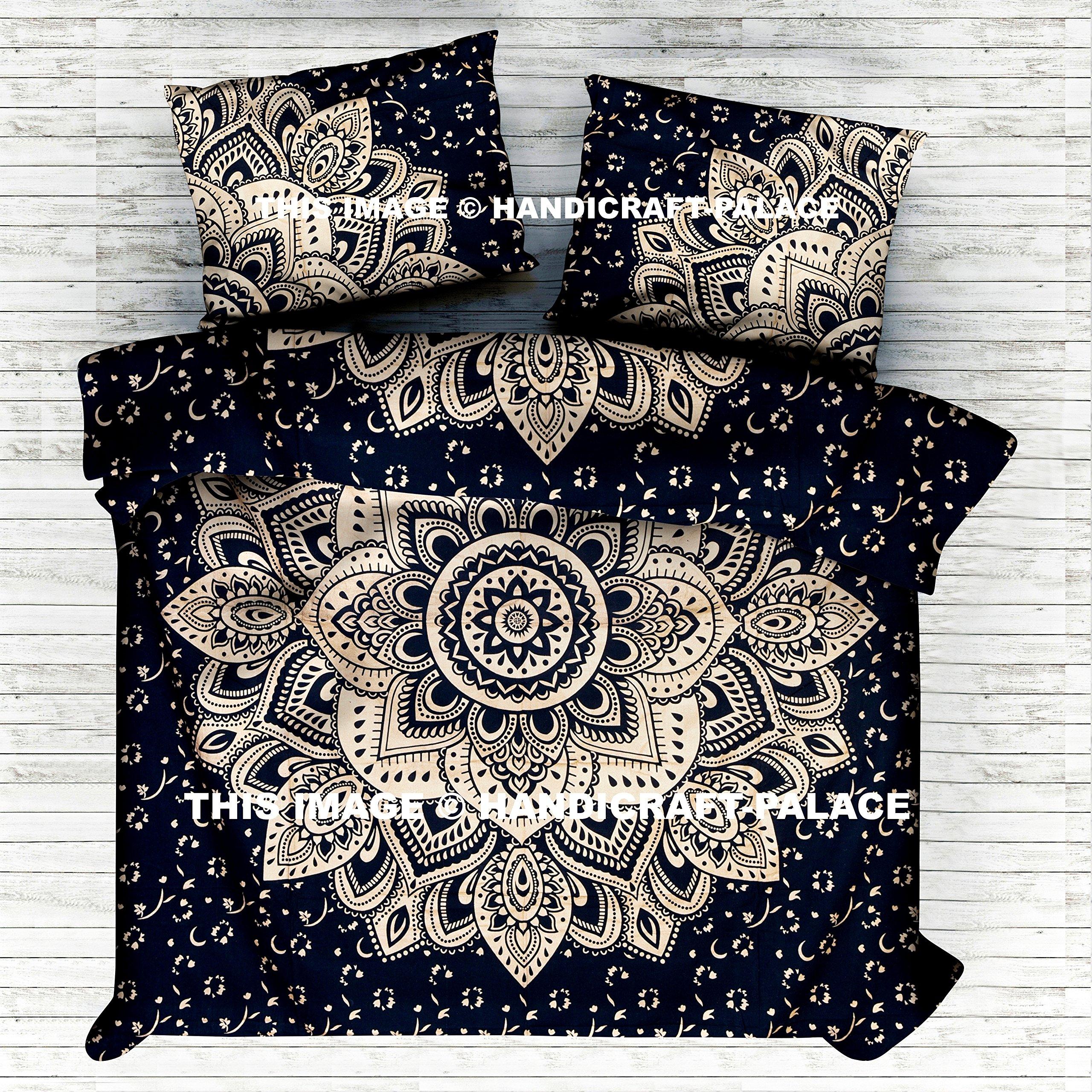 Indian Ombre Mandala Queen Size Comforter Hippie Boho Cotton Doona Duvet Cover Indian Comforter Mandala Hippie Bohemian Queen Quilt Cover Set By ''Handicraft-Palace''