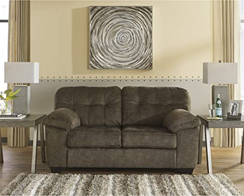 Flash Furniture Signature Design by Ashley Accrington Loveseat in Earth Microfiber