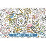 Blooms, Birds, & Butterflies Coloring Postcards (gold foil on every card!)