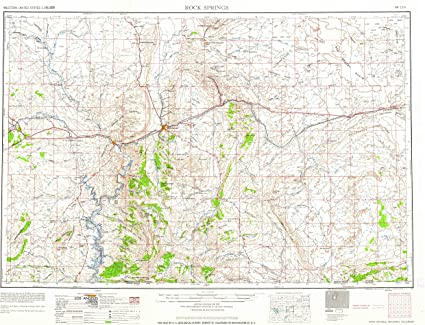 map of rock springs wyoming Amazon Com Yellowmaps Rock Springs Wy Topo Map 1 250000 Scale map of rock springs wyoming