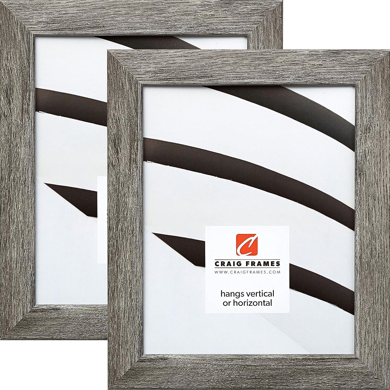 Craig Frames 26030 8 x 12 Inch Picture Frame, Gray Barnwood, Set of 2