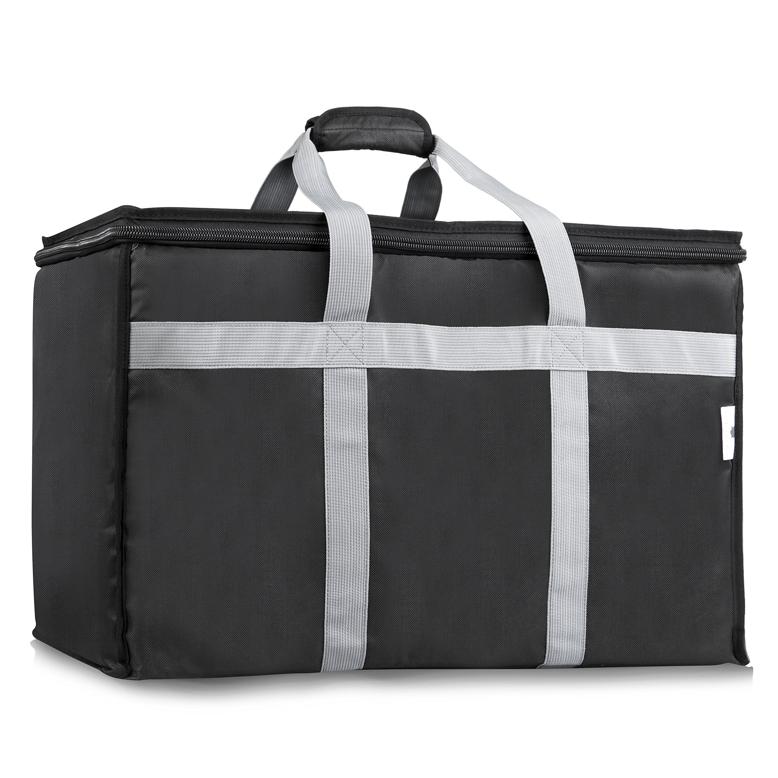 Insulated Food Delivery Bag - Upgraded Premium Interior Lining - 15mm Insulation - Commercial Grade Thermal Carrier for Hot or Cold Temperatures - Perfect for Catering or Any Food Transport Occasion by Foodservice Pro