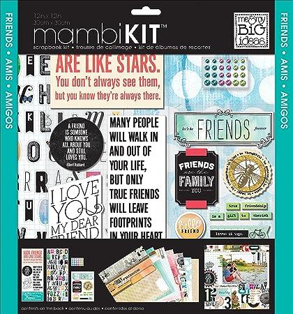 Amazon Me My Big Ideas Mixed Friends Mambi Scrapbook Kit 12