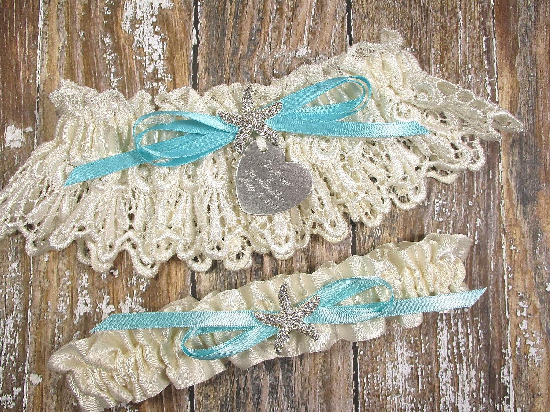 Rhinestone Starfish Wedding Garter Beach Wedding Garter Set Glam Wedding Garter Garder Beach Bridal Garter Destination Wedding Garter