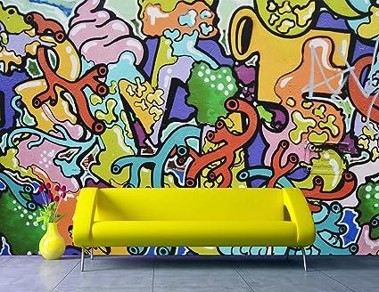 Removable Wallpaper Mural Peel Stick Abstract Graffiti