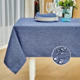 Mebakuk Rectangle Table Cloth Linen Farmhouse Tablecloth Waterproof Anti-Shrink Soft and Wrinkle Resistant Decorative Fabric