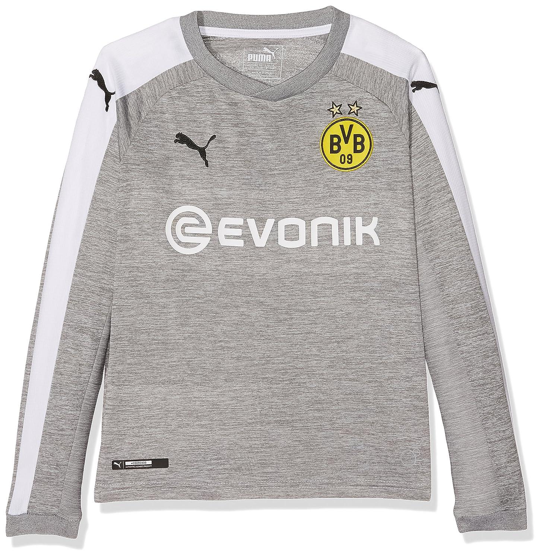 Puma Jungen BVB Kids Ls 3rd Replica Shirt with Sponsor Logo T