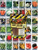 Sustainable Seed Bugout Seed Bag - 34 Variety Survival Garden Seed Collection - 22,000 Non-GMO Heirloom Vegetable Seeds for Long Term Storage or Easy to Grow Instant Garden