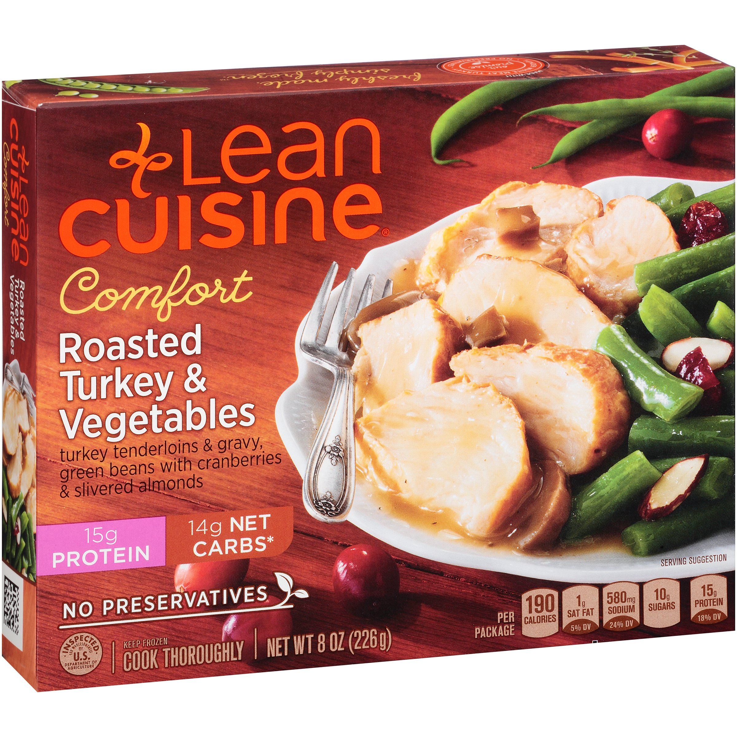 Lean Cuisine Roasted Turkey and Vegetables 8 oz, Pack of 12