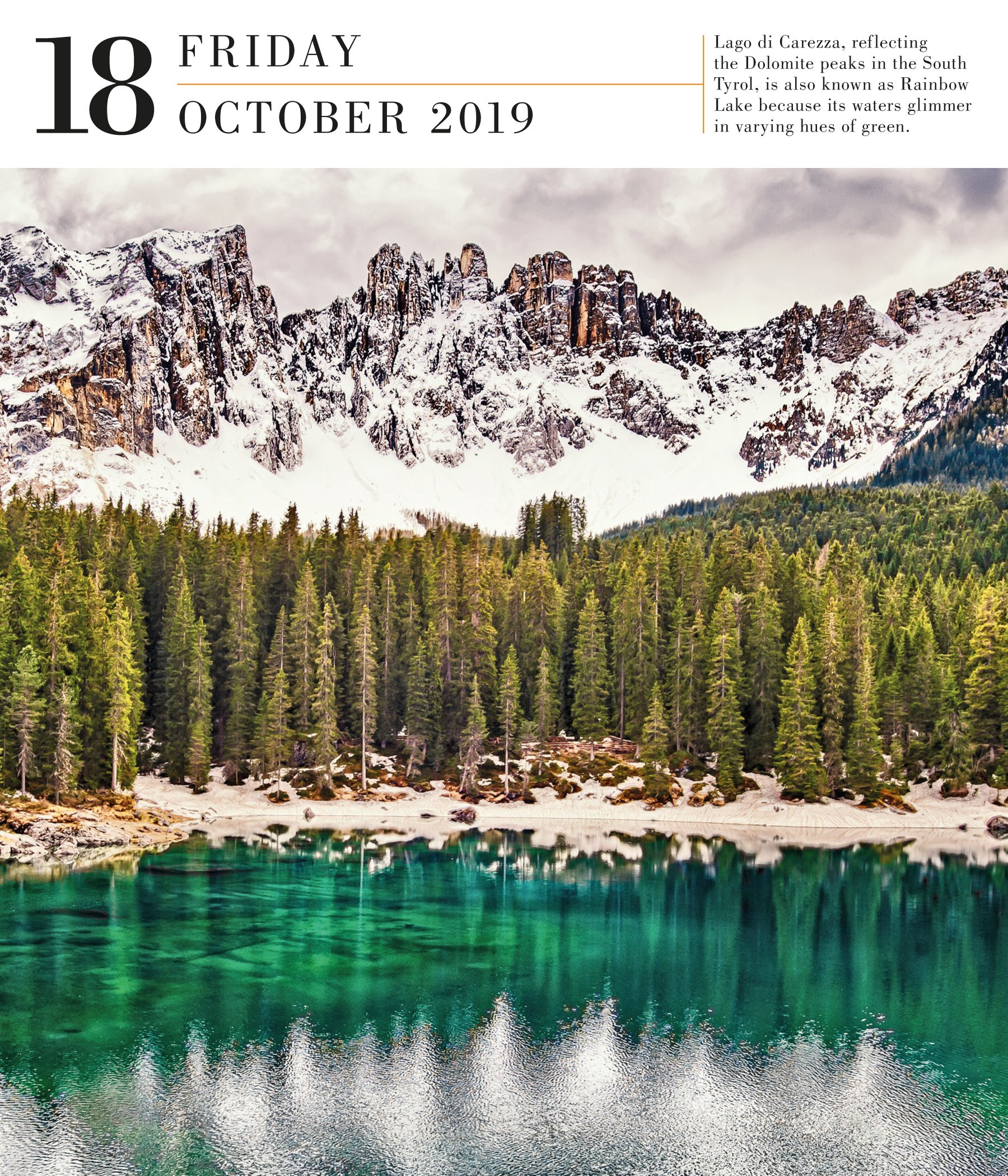 Christmas In Italy 2019.Italy Page A Day Gallery Calendar 2019 Workman Publishing