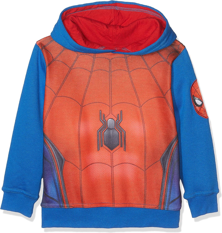 FABTASTICS Spiderman, Sudadera para Niños, Rojo (Red 001), 10 Años ...