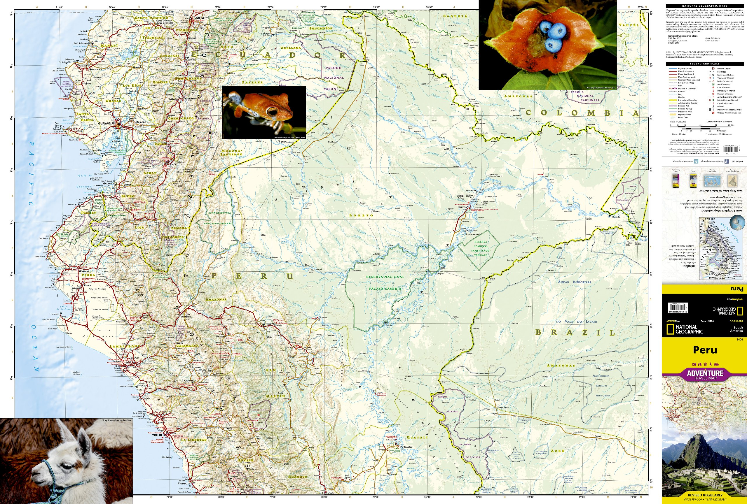 Peru (National Geographic Adventure Map): National Geographic Maps ...