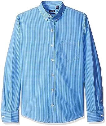 8e35331f IZOD Men's Premium Performance Natural Stretch Check Long Sleeve Shirt  (Regular and Slim Fit)