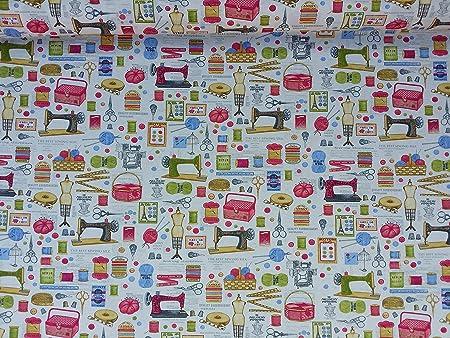 Prestige Fashion Cream Cotton Print Upholstery Fabric Sewing