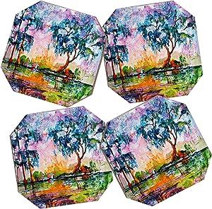 Deny Designs Ginette Fine Art Garden Of Good And Evil Savannah GA Coasters, Set of 4