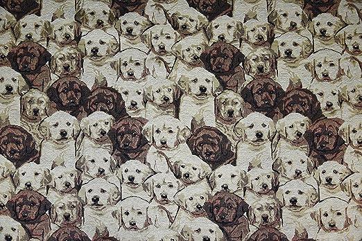 1 m   100% algodón tejido crema tapiz de lujo en perros ...