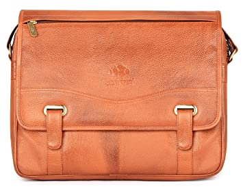 963412589408 The Clownfish Envoy Genuine Leather 14 inch Leather Laptop Bags ...