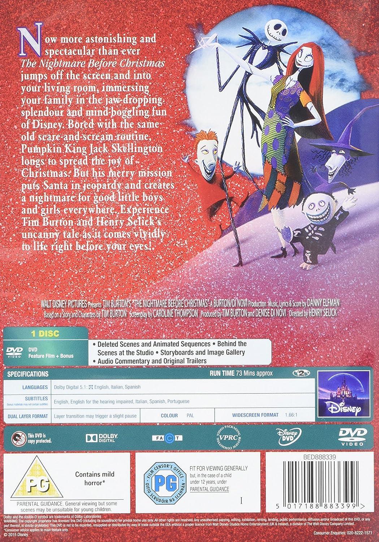 The Nightmare Before Christmas [1994] [DVD]: Amazon.co.uk: Danny ...