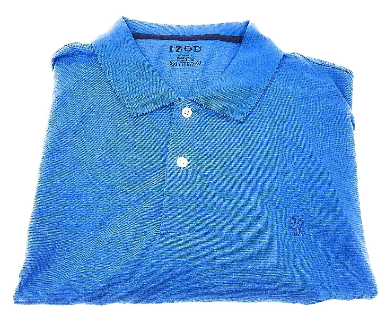 Izod Mens Feeder Stripe Polo Shirt Blue Revival Xxlarge Blue
