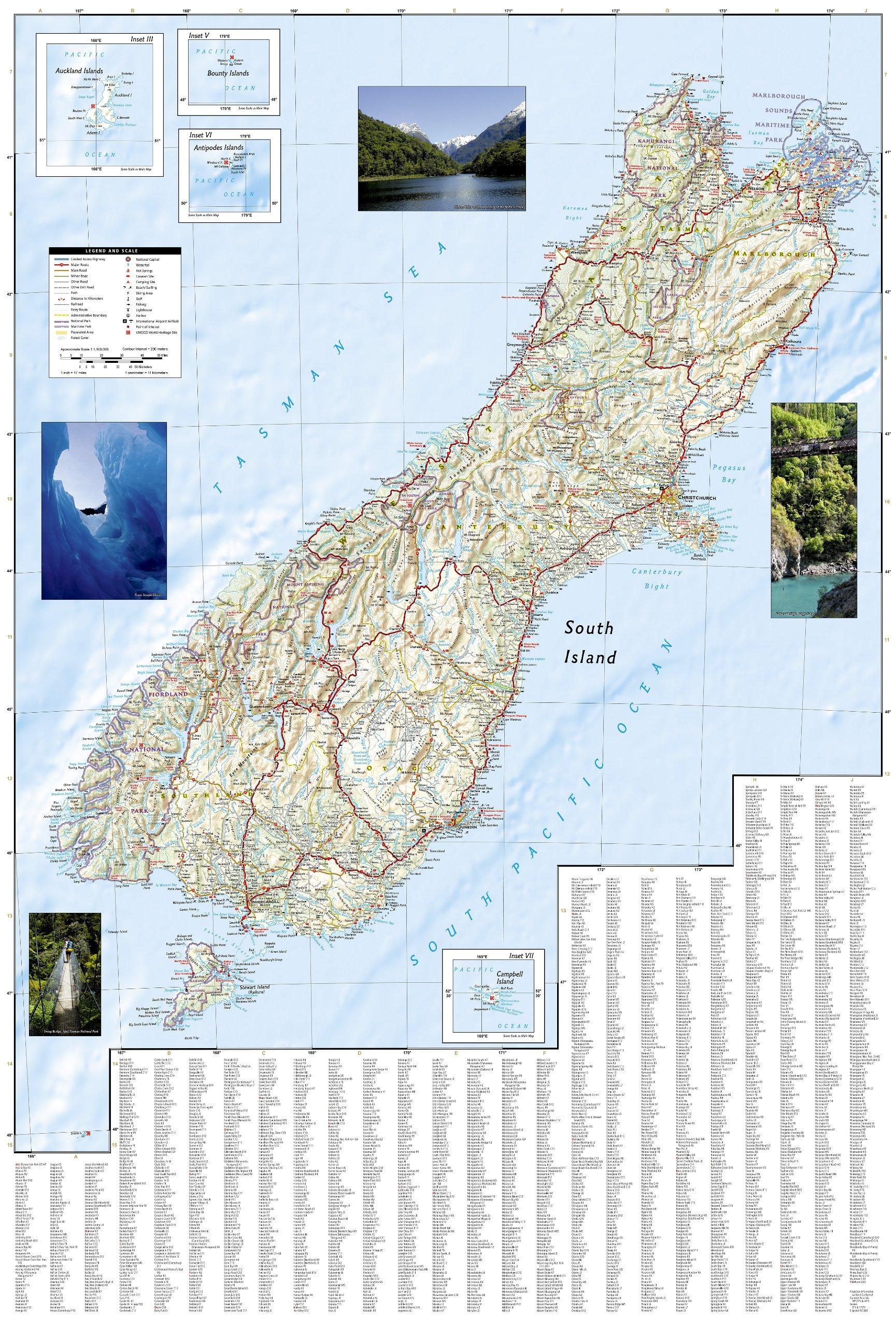 New Zealand National Geographic Adventure Map National – New Zealand Tourist Attractions Map
