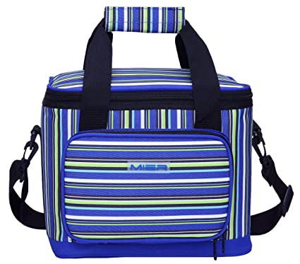e186a8d5d33 Amazon.com: MIER 16 Can Large Insulated Lunch Bag for Women and Men, Soft  Leakproof Liner, Blue: Toys & Games