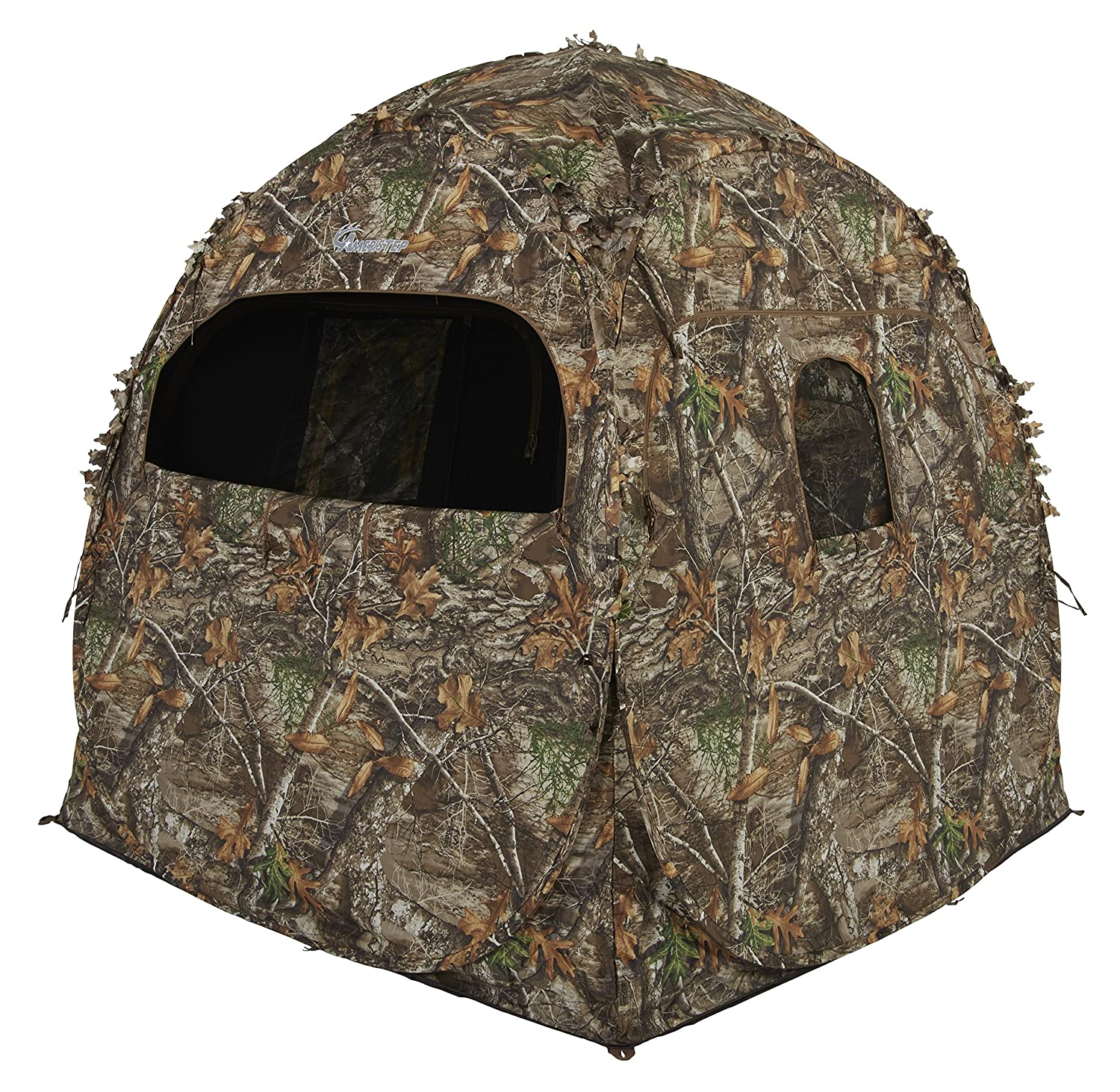 realtree ladderstand blind ground ameristep walmart person w man seat ip blinds two ap com