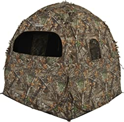 Ameristep 54 x 45 Realtree Edge Camo Tent Chair Ground Hunting Blind 2 Pack