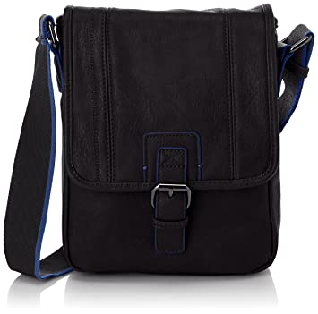 4e45abda9f Buy United Colors of Benetton New Carlos, Mens Cross-Body Bags, Black -  Noir - Black, One Size Online at Low Prices in India - Amazon.in