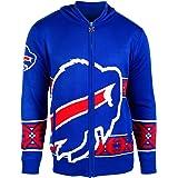 Klew NFL Men's Full Zip Hooded Sweater
