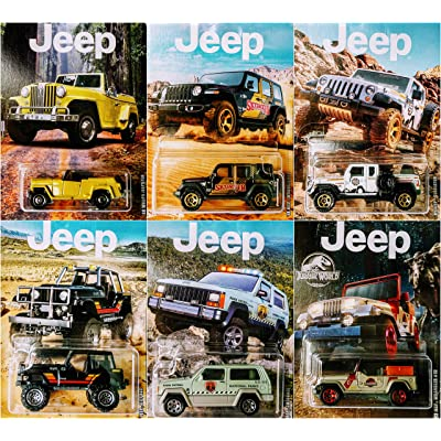 Matchbox 2020 Jeep Series Complete 6 Jeep Set Bundle: Toys & Games