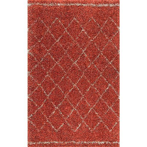 nuLOOM Edwin Soft and Plush Shag Rug, 5 x 8 , Rust
