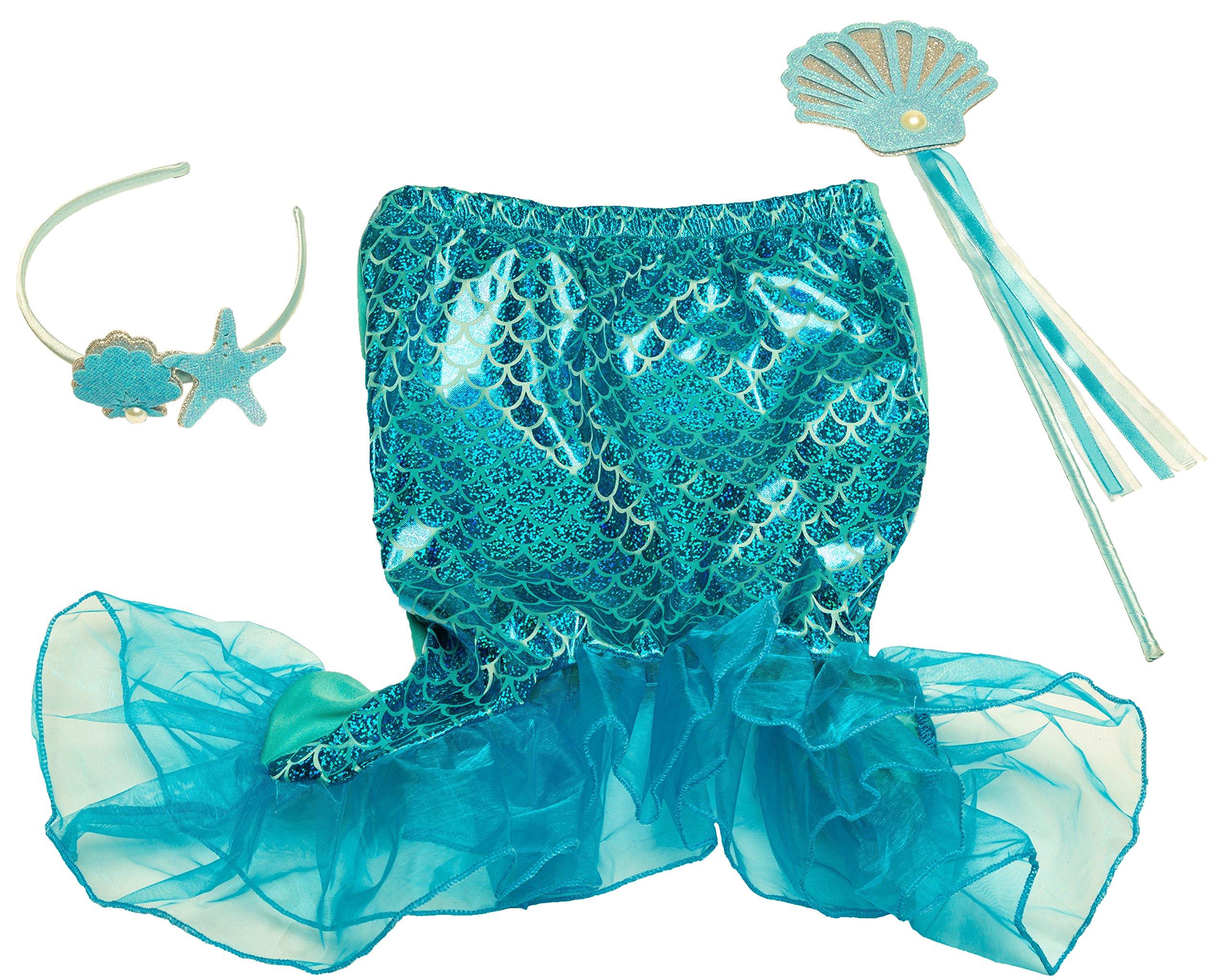 Girls Dress Up Set: Unicorn, Superhero, Angel, Mermaid, Princess - with Storage bin Pink by MMP Living (Image #4)