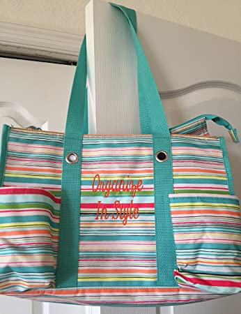 Amazoncom Thirty One Zip Top Organizing Utility Tote In Sunny
