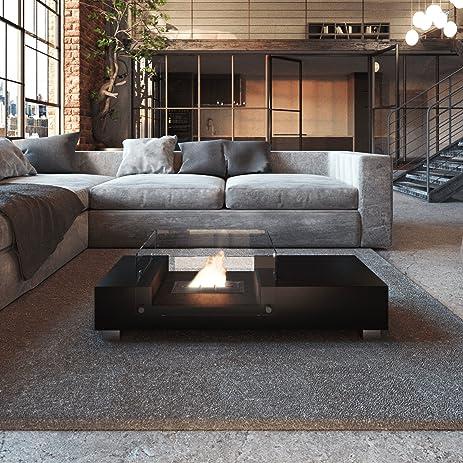 Good Smokeless Indoor Fireplace Coffee Table (Black)   KAFFEE