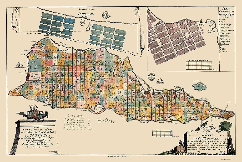 Amazon Com Maps Of The Past Caribbean Saint Croix Virgin Islands