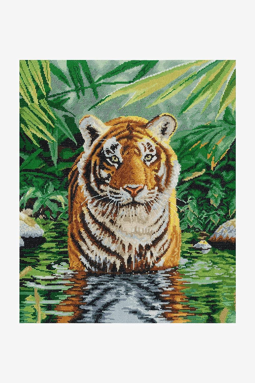 DMC Price reduction security Tiger Pool Stitch Cross Kit