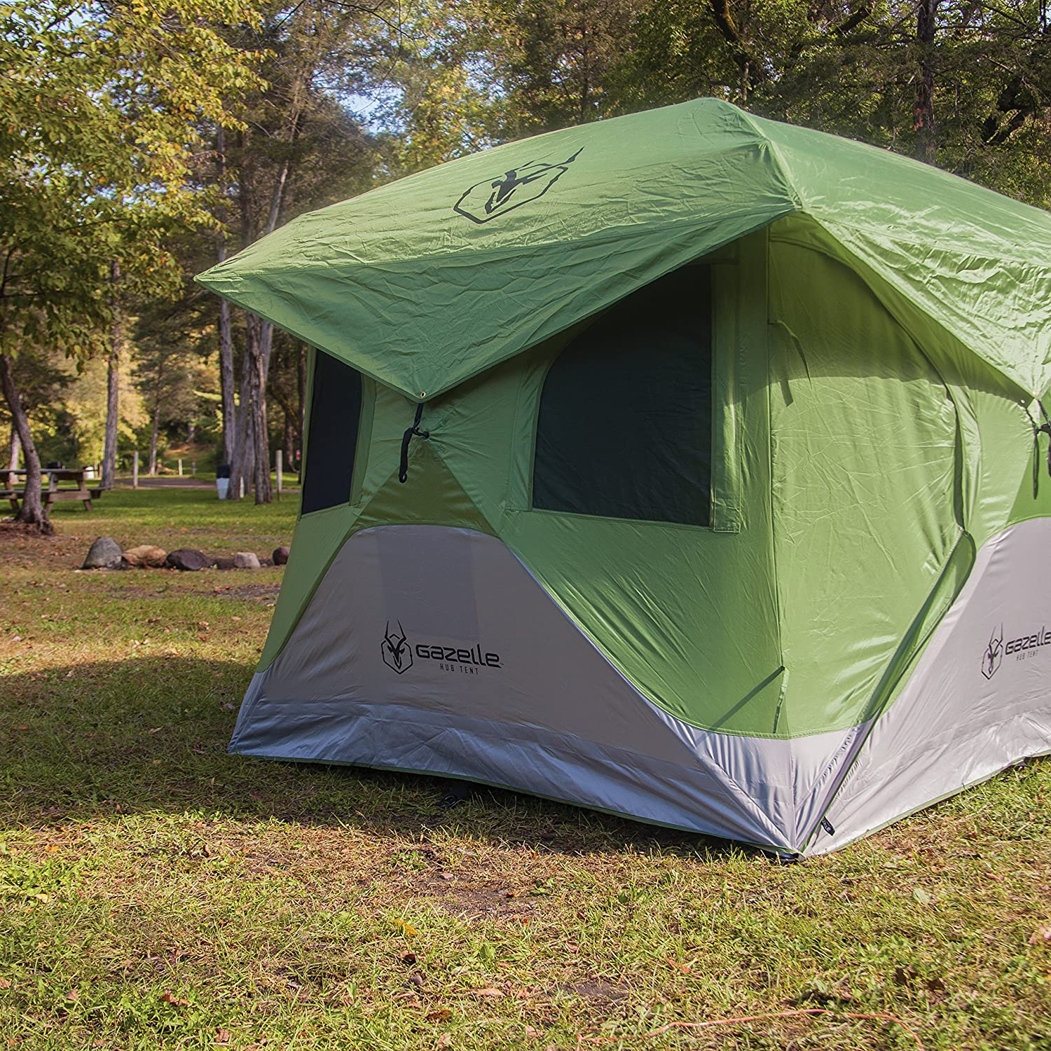 Amazon.com : Gazelle 33300 T3 Pop Up Portable Camping Hub Tent, 3 Person : Sports & Outdoors