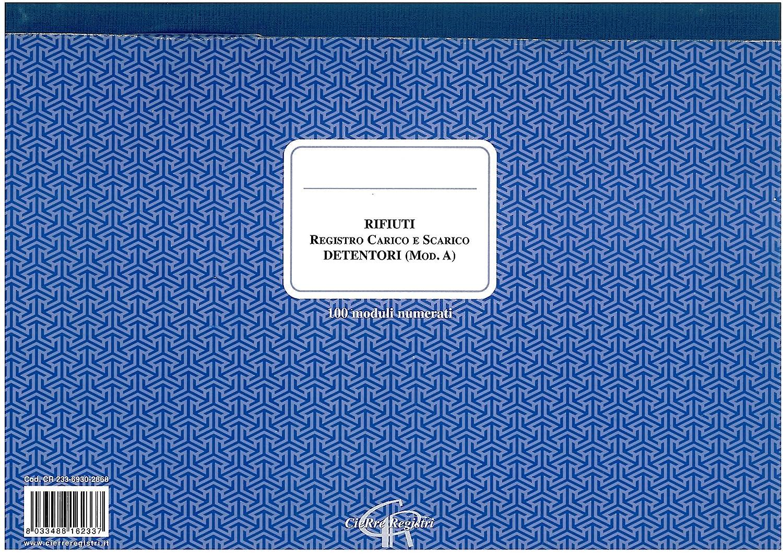 Registro carico e scarico rifiuti - Detentori (Mod. A) CieRre Registri